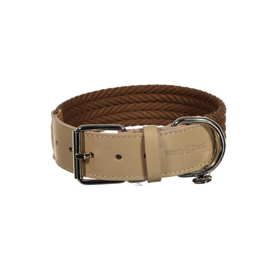Denim Collar - Brown&Beige