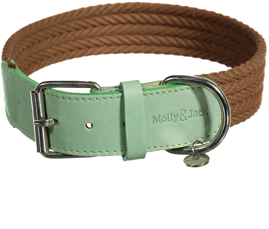 Denim Collar - Brown&Green