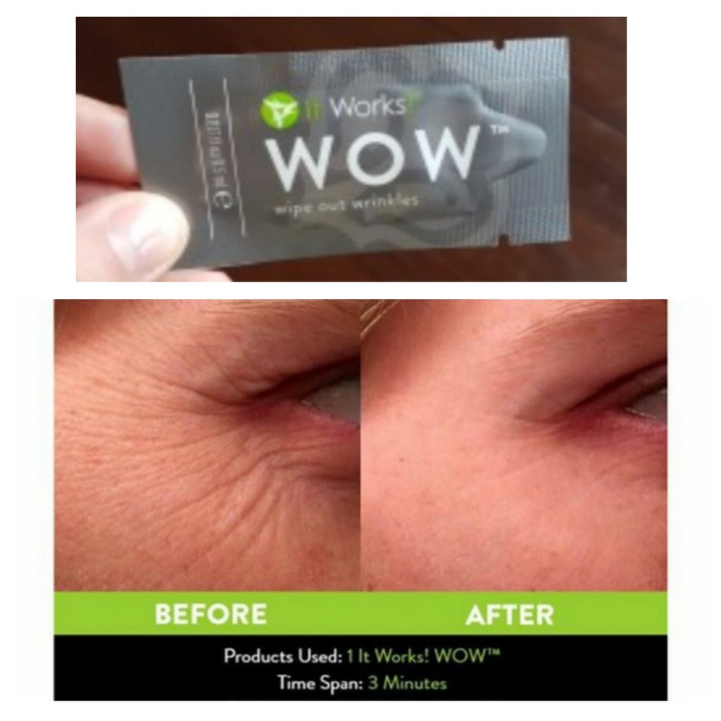 FREE WOW sample - Wipes out Wrinkles!