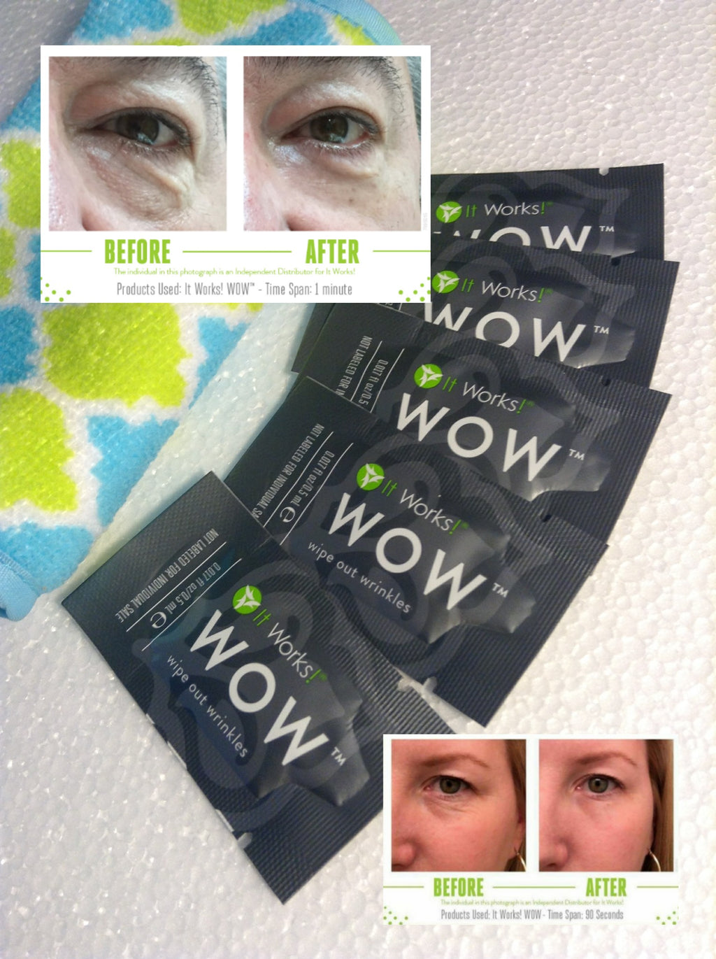 WOW - Wipes out Wrinkles! 5 pks