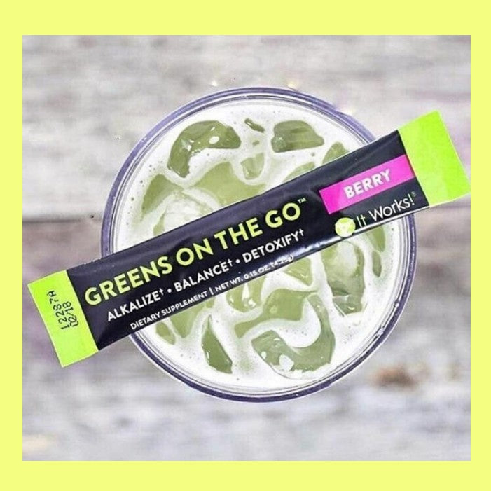 Greens on the Go!       Trial pack of 3