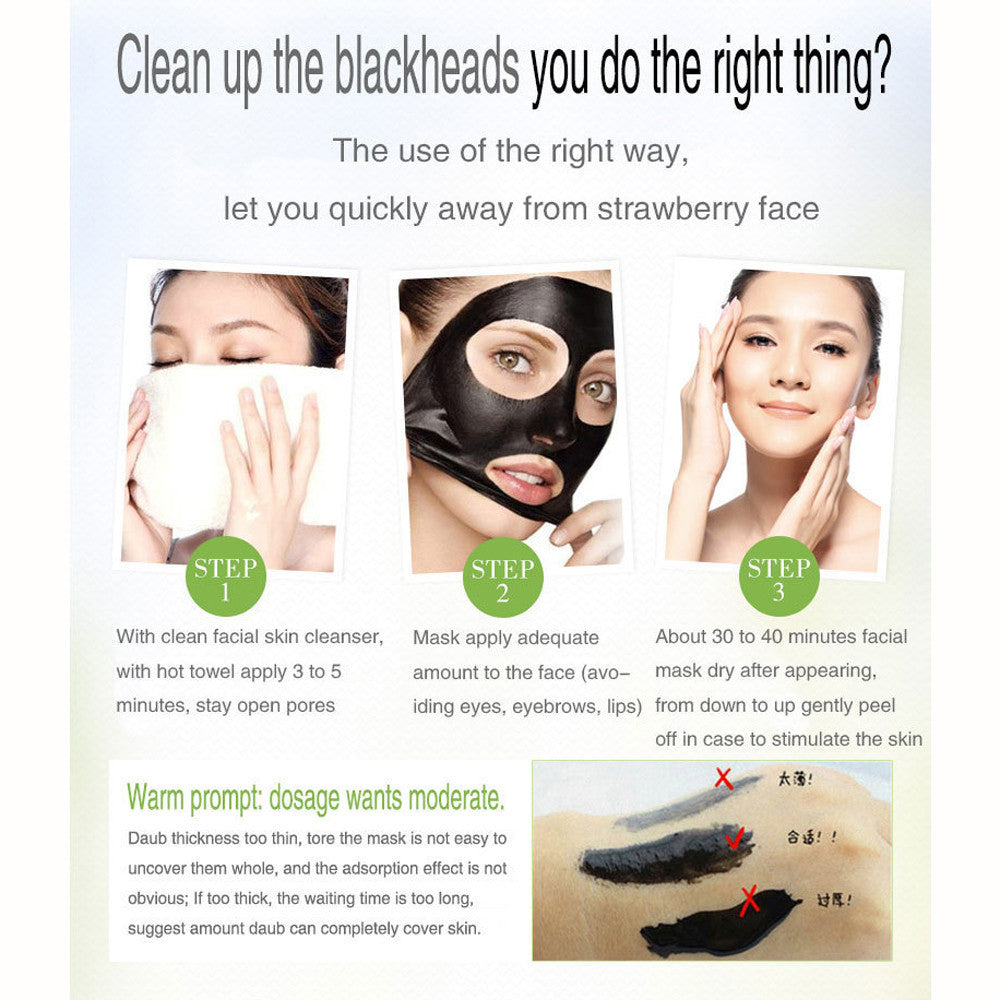 NEED COPY   Black Mud Deep Cleansing  Blackhead Remover Purifying Peel Face Mask