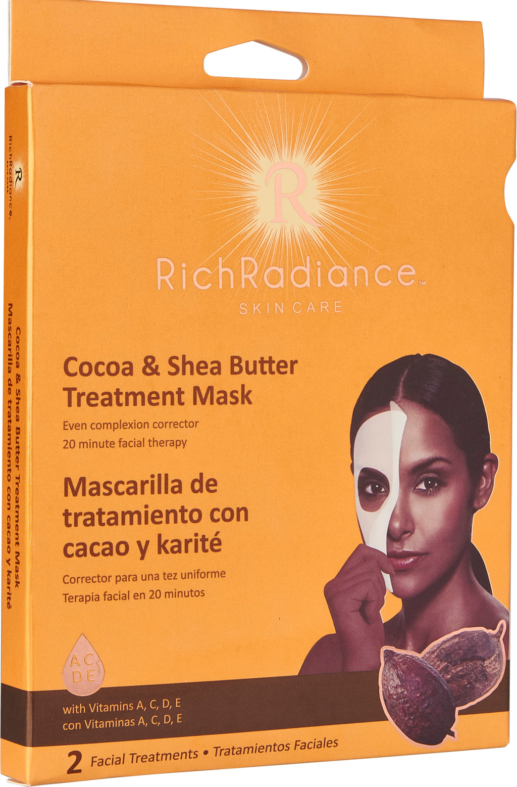 Rich Radiance Cocoa & Shea Butter Treatment Mask 2pk