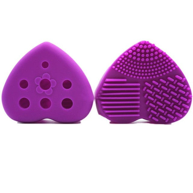 Hollow Out Heart Shape Clean Make up Brushes Wash Brush Silica Glove Scrubber Board Cosmetic Cleaning Tools for makeup brushes