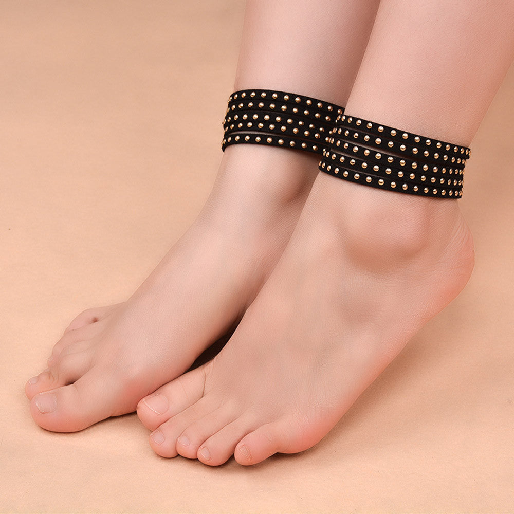 Vb Want Fashion Retro Black Anklet Foot Ring Ornaments GD