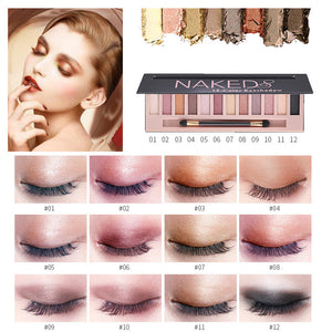 Cosmetic Makeup Shimmer Matte Naked 12 Colors Eyeshadow Palette Sombras