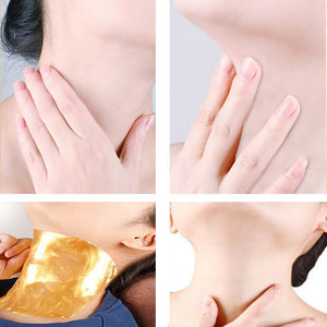 Vb want 24K Gold Collagen Neck Mask Anti-Aging Anti-wrinkle Whitening Moisturizing Spa