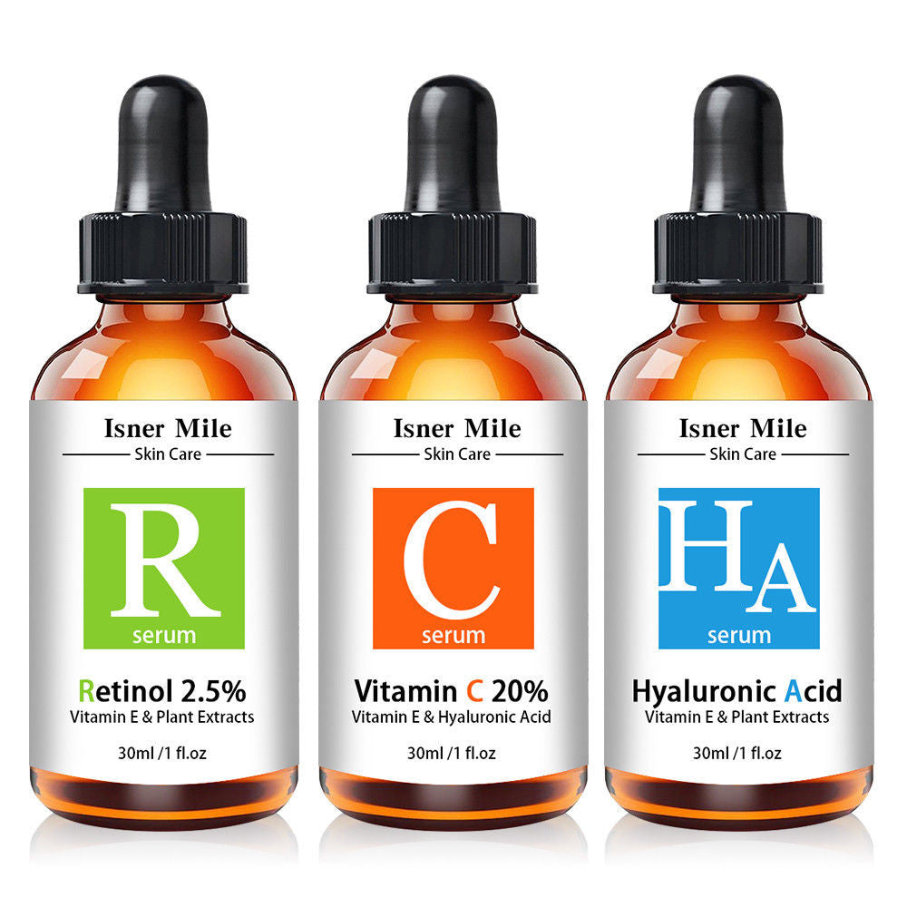 000.   PURE RETINOL VITAMIN A 2.5%, HYALURONIC ACID - RETINOL WRINKLE CREAM / SERUM SET