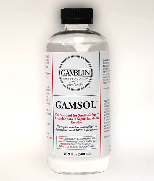 Gamsol, 16oz. - Refined OMS for a high level of performance in brush clean up, as well as in general use for oil painting.