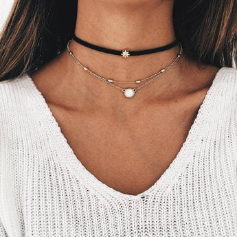 Collier multirang Pauline