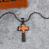 Collier croix Basketball