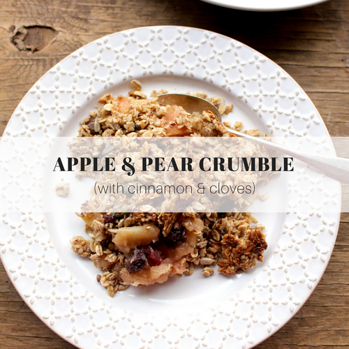 Apple and Pear Crumble