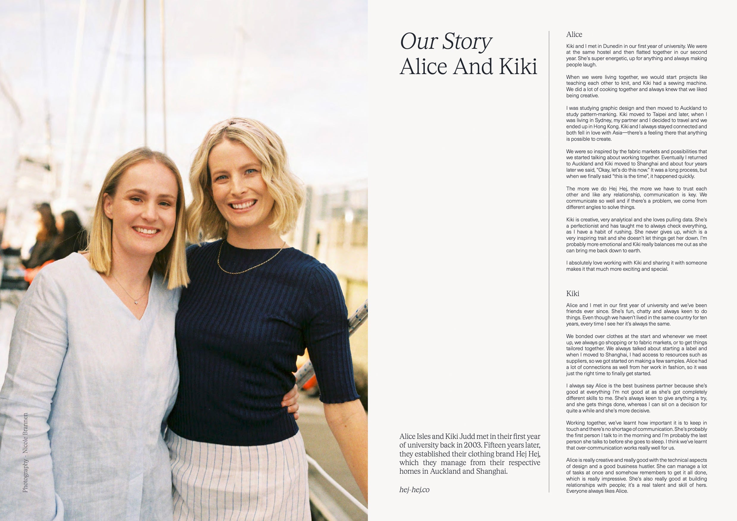 Verve - Our Story Alice and Kiki