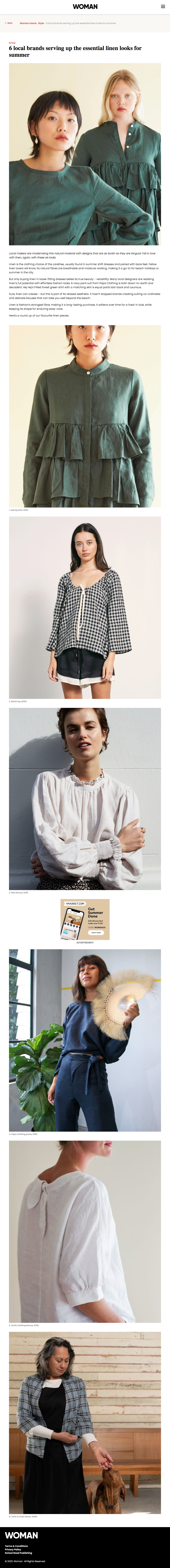 hej hej | WOMAN | 6 local brands serving up the essential linen looks for summer