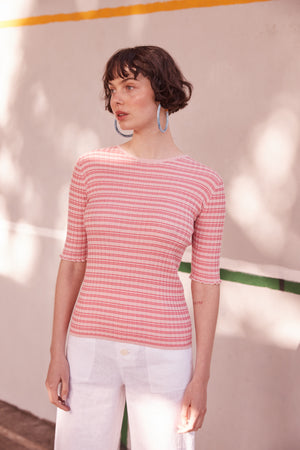Good Day Barclay in Pink Stripe - hej hej