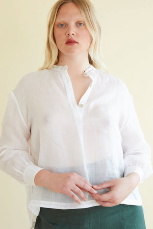 24/7 Shirt in Sheer White - hej hej
