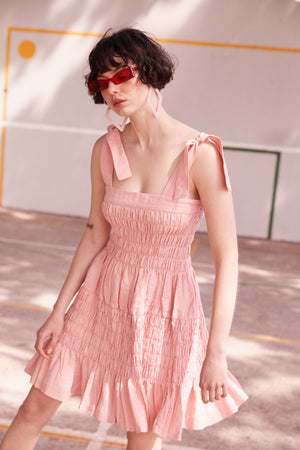 Pineapple Turbulence Dress in Pink - hej hej