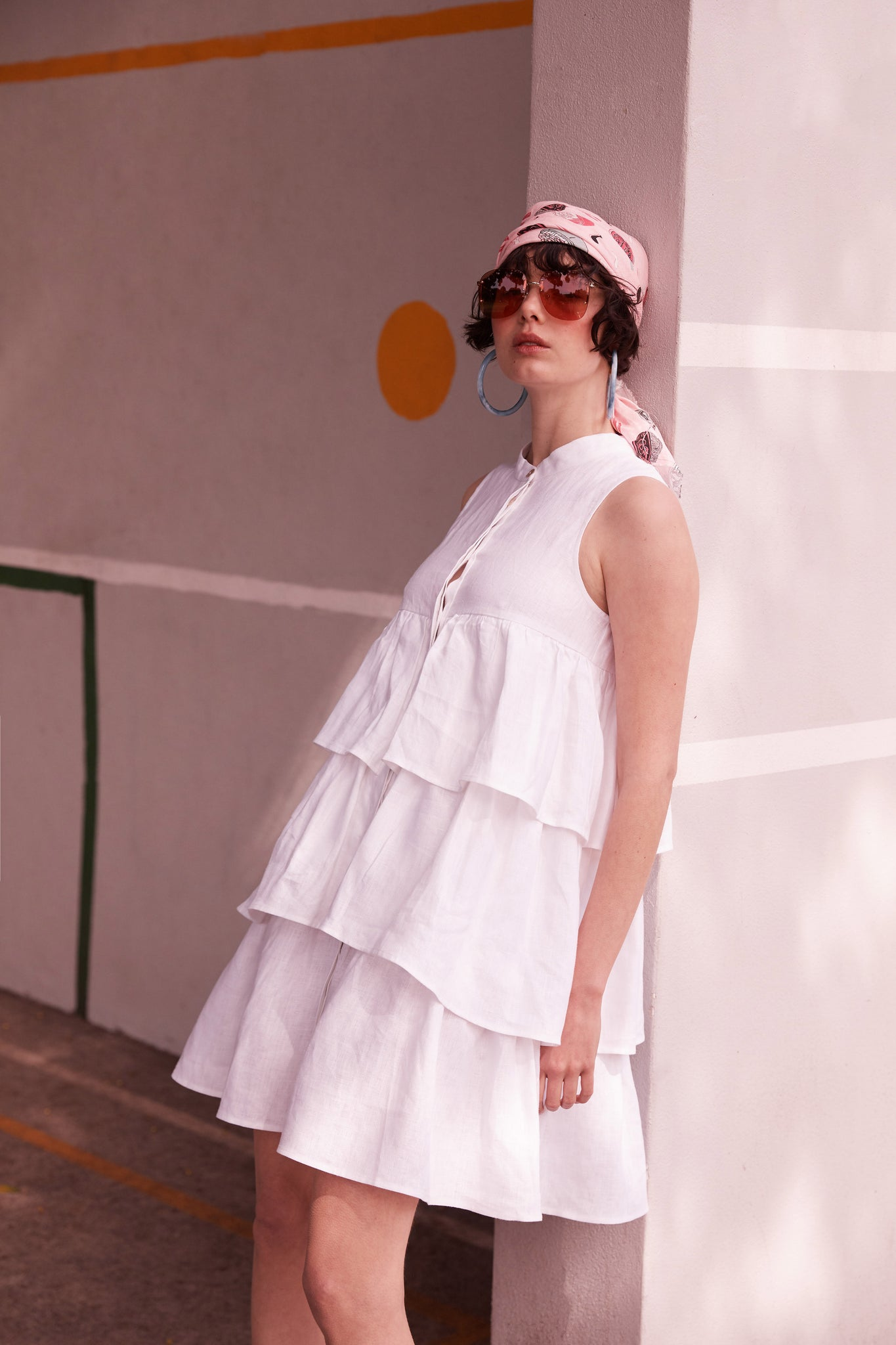 The Mala Mix Dress in White - hej hej