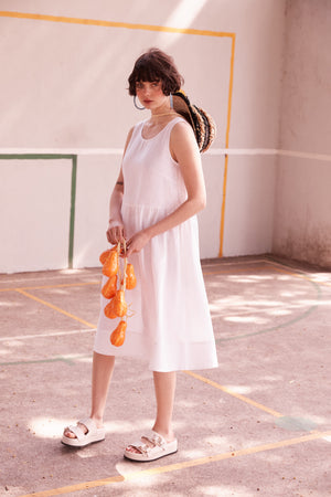 Eat Sleep Repeat Dress in White - hej hej