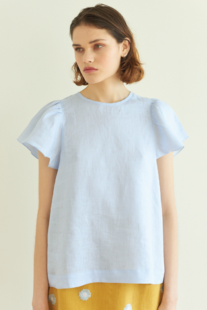 Little Dumpling Top in Sky Blue - hej hej