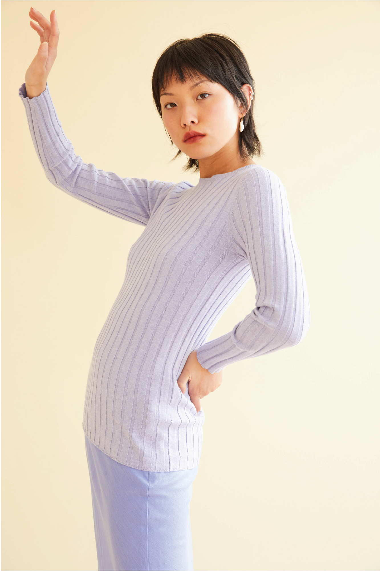 Layer Cake Knit in Periwinkle - hej hej