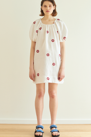 Baby Cakes Dress in White Daisy - hej hej