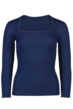 Square Peg Knit in Indigo - hej hej
