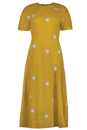 The Indiana Dress in Gold Daisy - hej hej