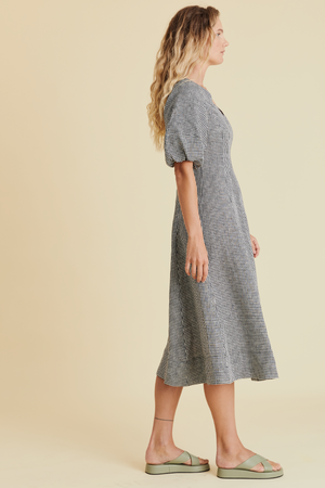 Proud as Punch Dress in Black Gingham - hej hej