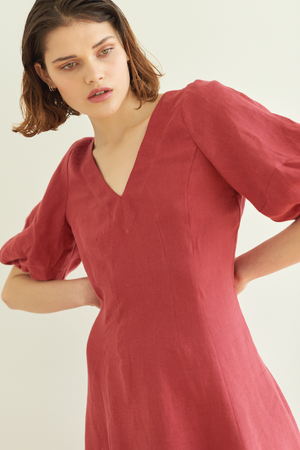 Proud as Punch Dress in Cherry - hej hej