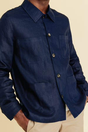 Multitasking Man Coat in Indigo - hej hej