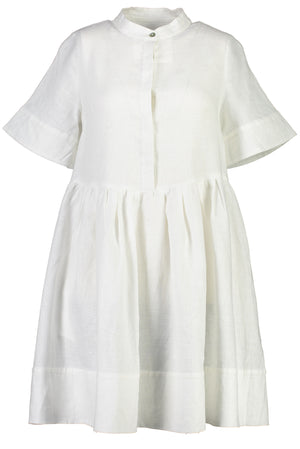 Babydoll Savage Dress in White - hej hej