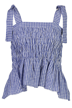 Fengxian Topper Top in Blue Gingham - hej hej