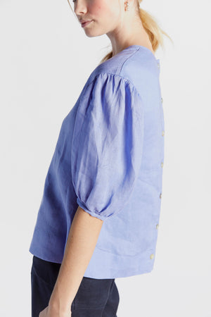 Powerpuff Top in Periwinkle - hej hej