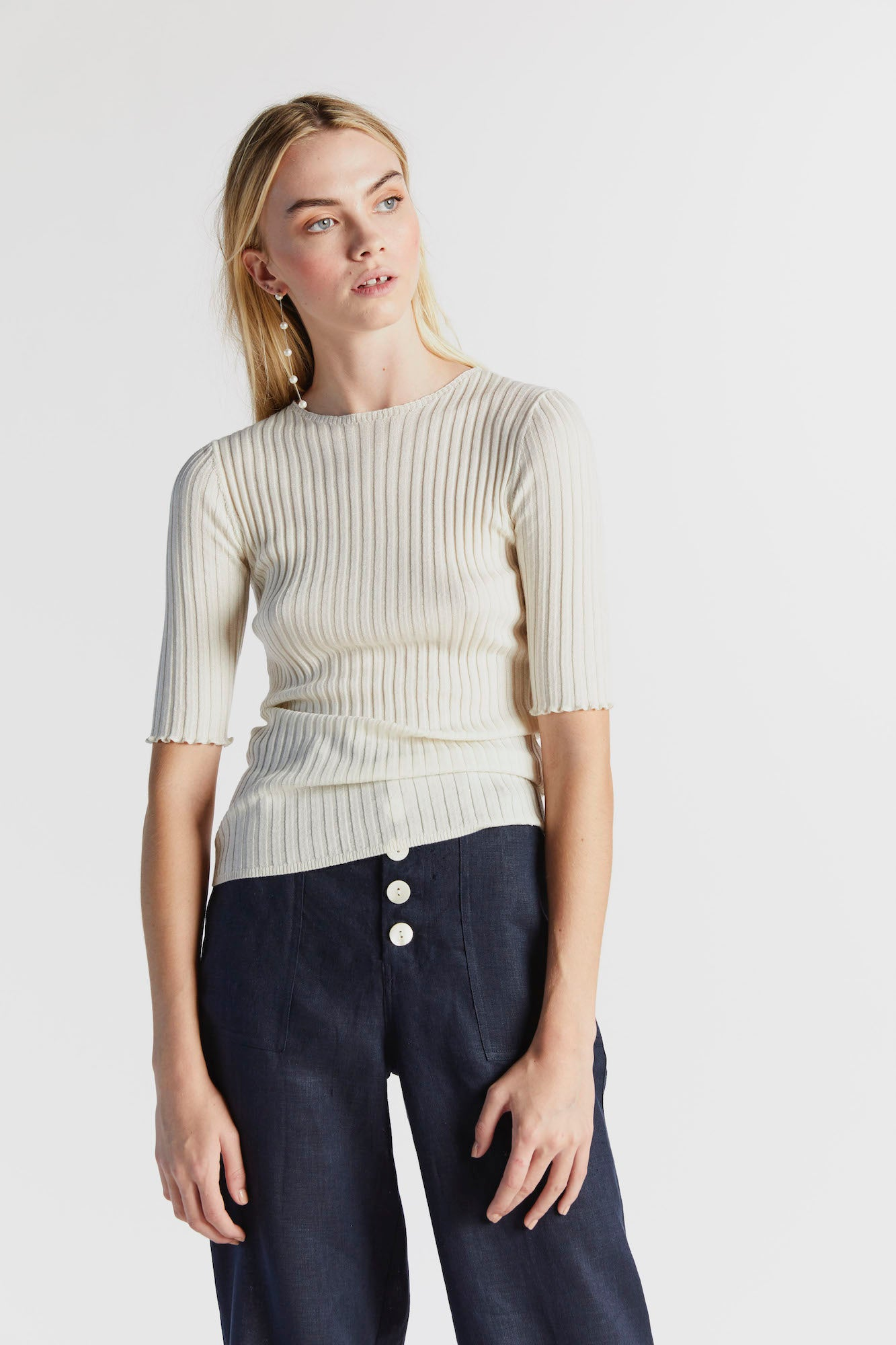 Good Day Barclay Knit in Ivory - hej hej