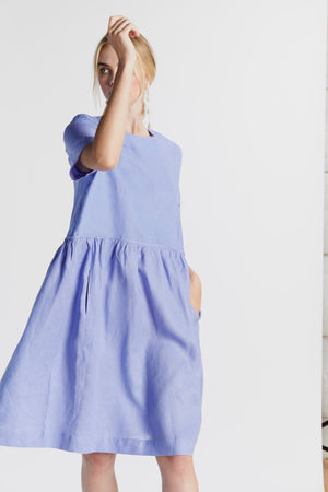 Noodle Baby Dress in Periwinkle - hej hej