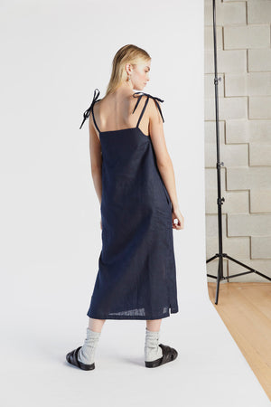 Lazy Luxe Dress in Indigo - hej hej