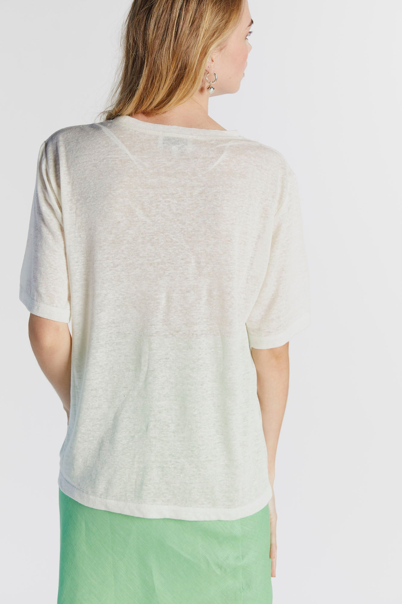 The Griffin Tee in Cream - hej hej