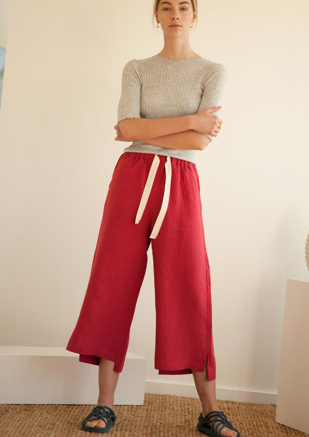 Brunch Pants in Red