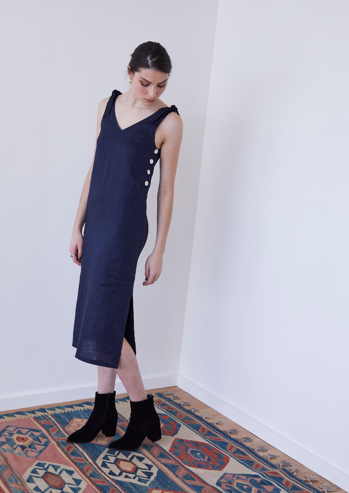 Bloom Baby Bloom Dress in Indigo - hej hej