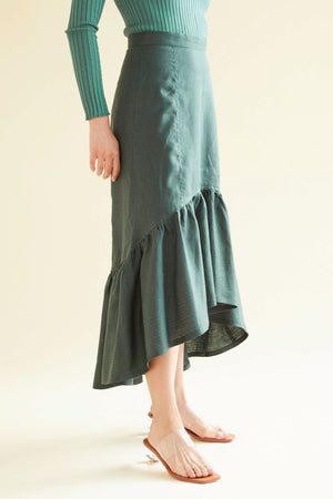 The Hazledine Heartbreaker Skirt in Forest - hej hej