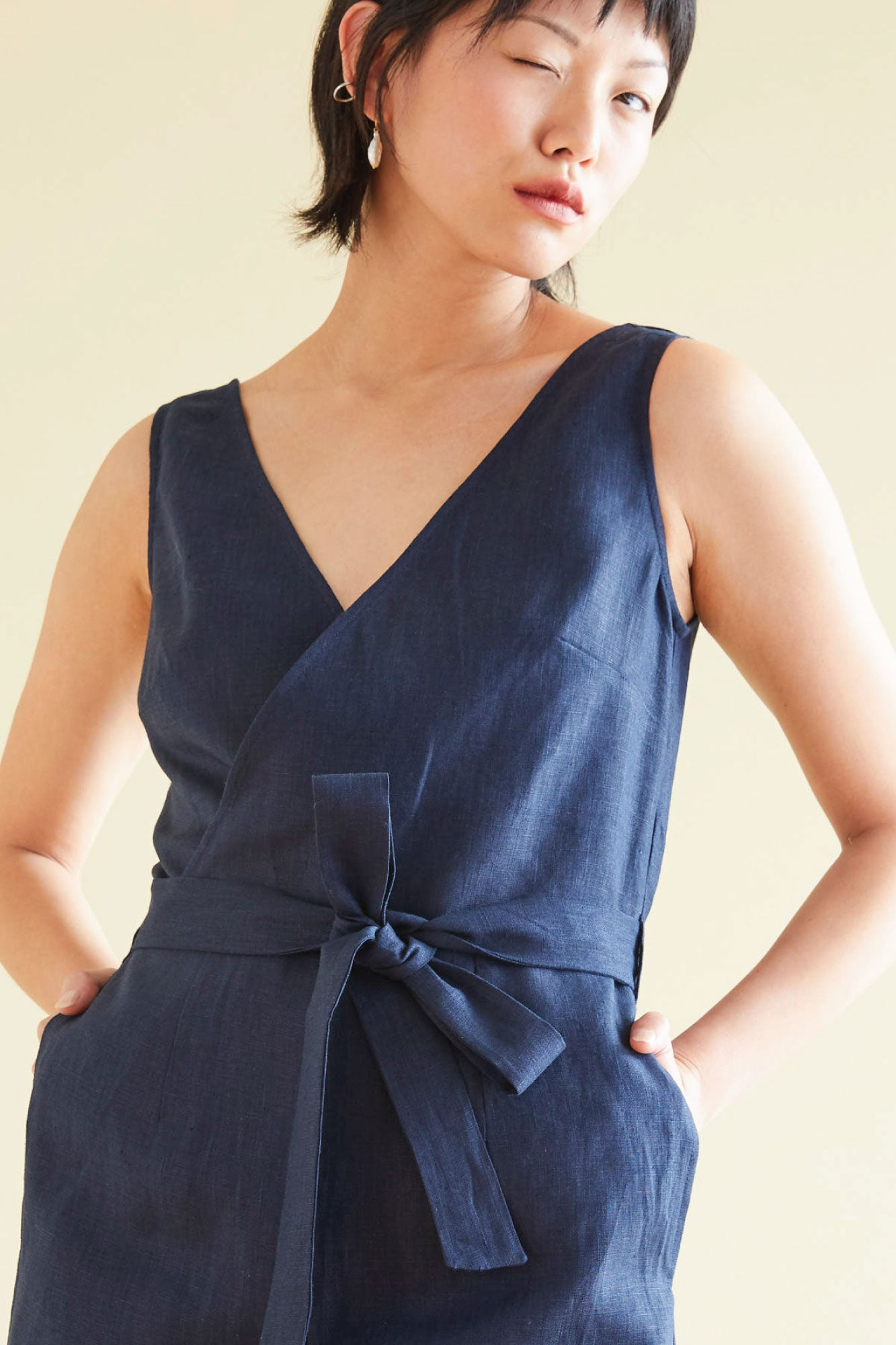 Happy Hour Jumpsuit in Indigo - hej hej