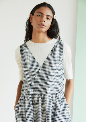 Eat Sleep Repeat in Black Gingham
