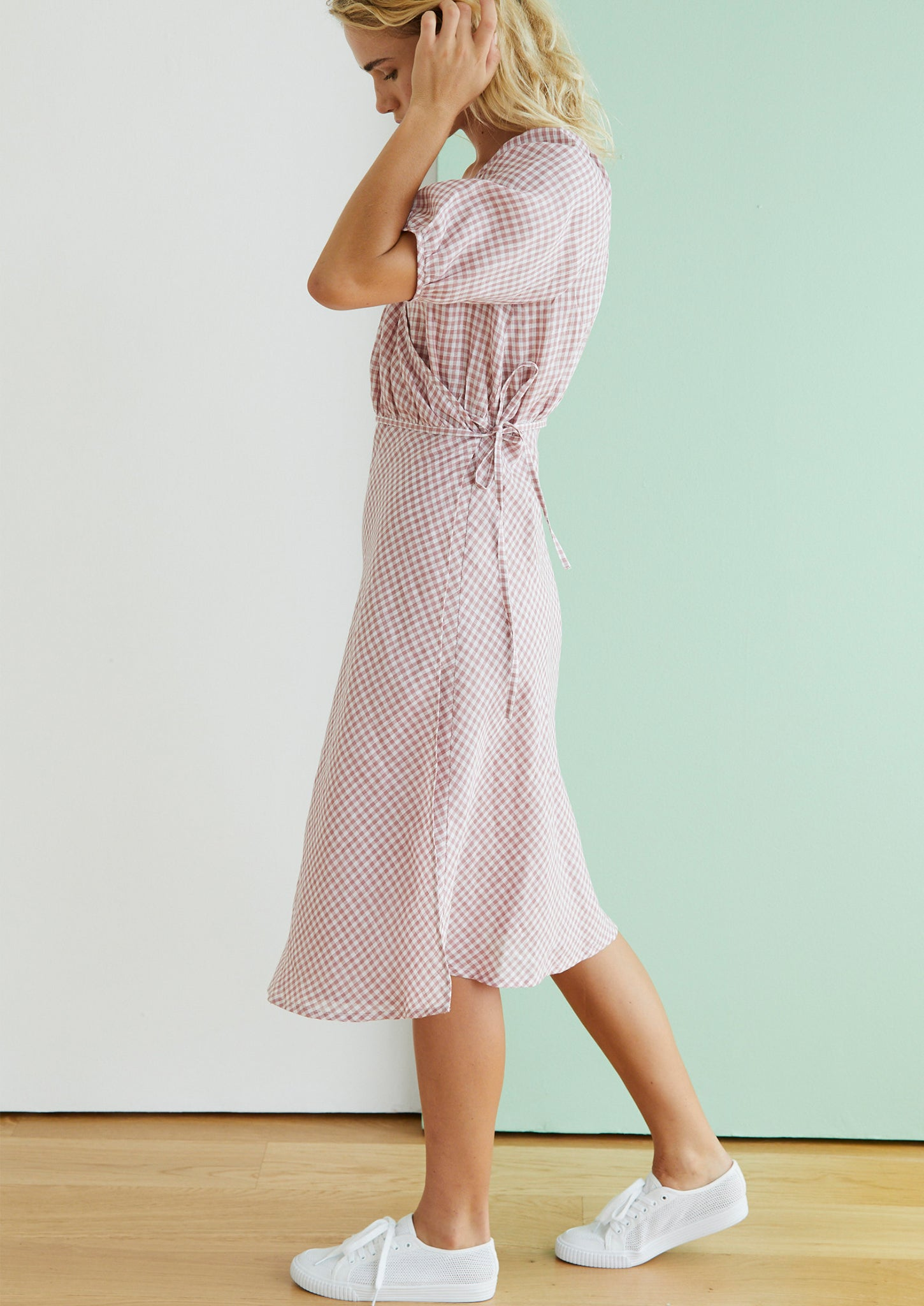 Cross My Heart in Pink Gingham
