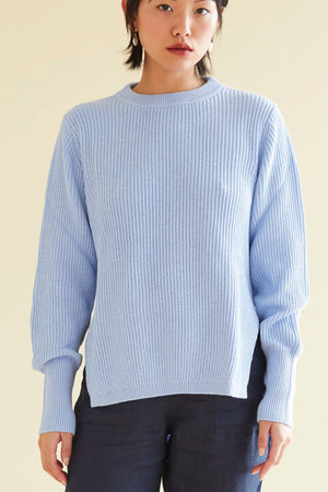 Ribby Libby Knit in Sky Blue - hej hej