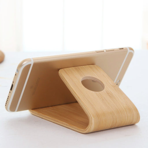 Universal Bamboo Wood Stand Holder