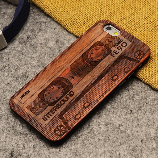Wood Phone Case For iPhone 5/ 5S/ 6/ 6S/ 6Plus/ 7/ 7Plus