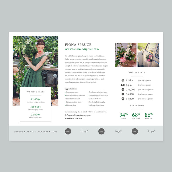 Single Sheet, Media Info Template