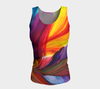 Paradise Fitted Tank Top - Sunrise (Long) - Vibrant Artz