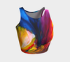 Paradise Athletic Crop Top - Sunset - Vibrant Artz